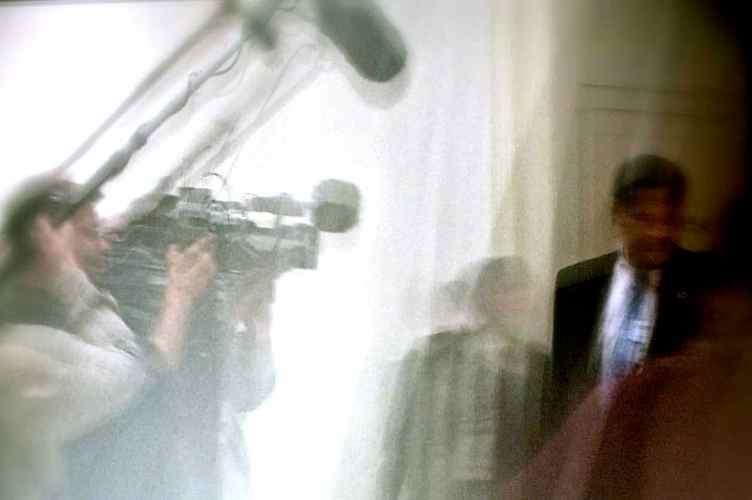 Reporters follow whistleblowers on Capitol HIll (2005)