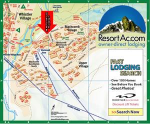 Whistler Glacier Lodge Accommodation Map