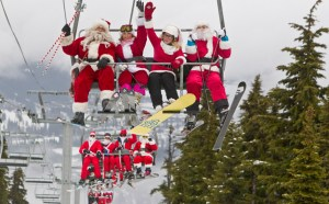 Ski with Santa :: Christmas in Whistler