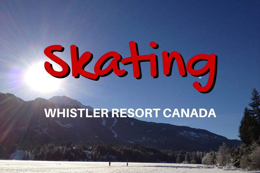 Whistler Skating on Alta Lake BC Canada