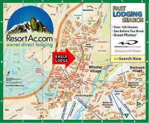 Whistler Eagle Lodge Accommodation Maps
