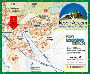 Whistler Gables Accommodation Map