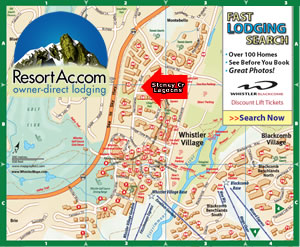 Whistler Stoney Creek Lagoons Accommodation Maps