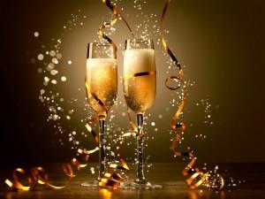 Whistler New Years Shampagne