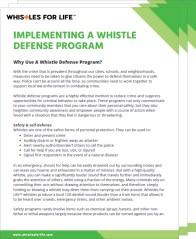 Whistle defense program guide
