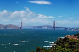 On the doorstep of Cavallo Point Lodge, is Golden Gate National Park