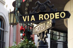 The high-end shops of Rodeo Drive are not far from Mr C Beverly Hills