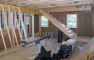 Framing Stairs To Master Suite Whitby Drive Renovation
