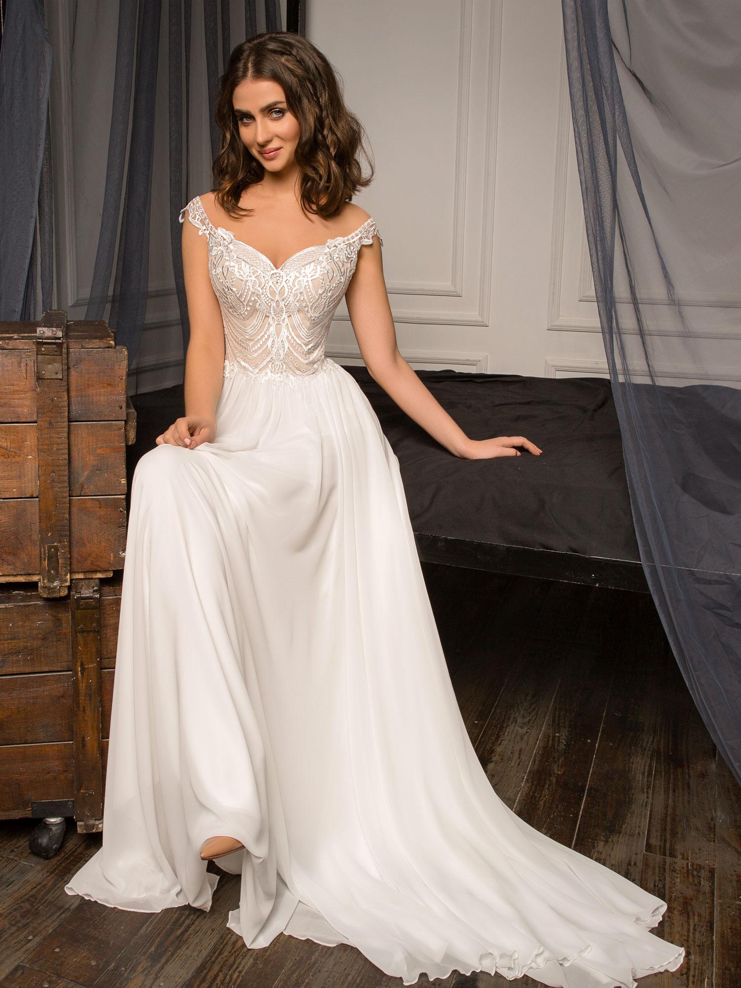 Robe de mariée fluide Besançon chez White