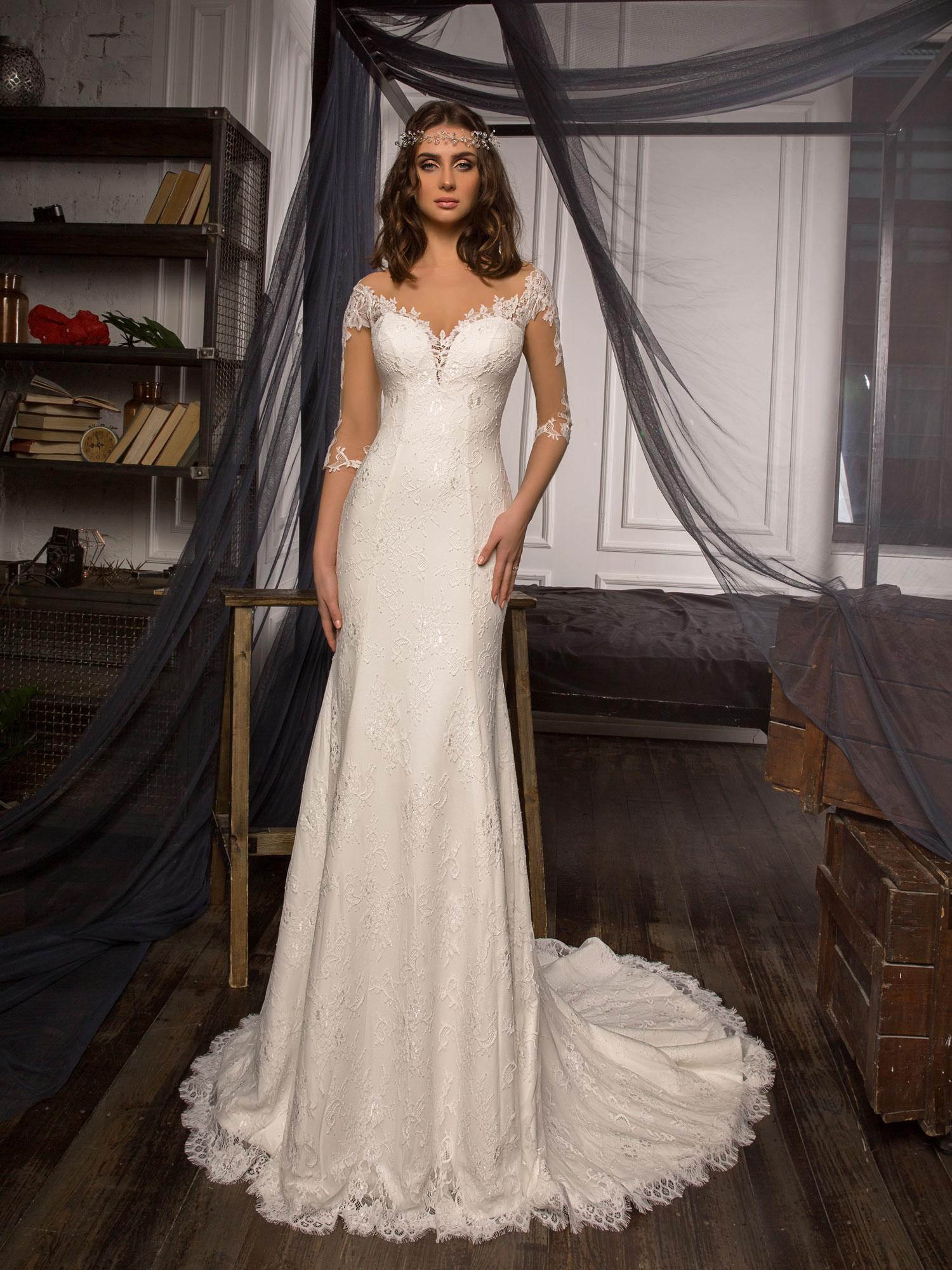 Robe de mariée sirène Bordeaux chez White