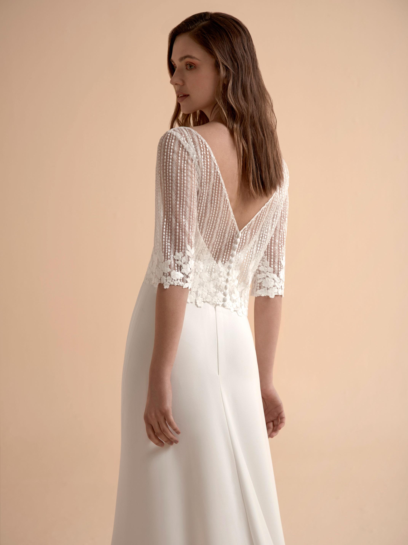 Top pour robe de mariée Colette par Modeca
