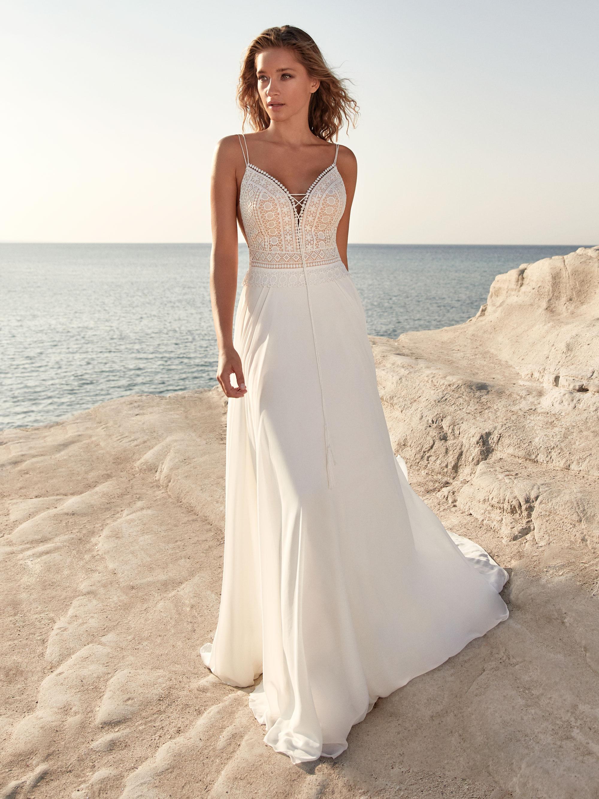 Robe de mariée fluide Thollon - White Boutik