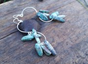 Long Turquoise Earrings 2