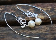 Silver Pearl Earrings 2