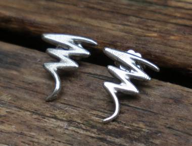 Silver Abstract Stud Earrings 1
