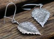 Silver Leaf Earrings 4