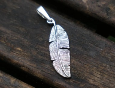 Silver Feather Pendant 1