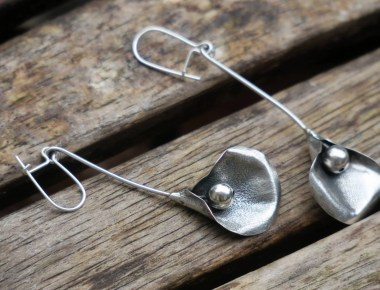 Sterling Silver Calla Earrings 1