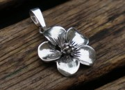 Sterling Silver Flower Pendant 2