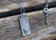 Raw Silver Bee Necklace 2