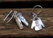 Silver Clothes Earrings 2