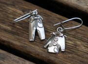 Silver Clothes Earrings 3