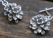 Silver Flower Earrings 4