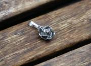 Silver Rose Pendant 5