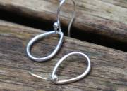 Silver Teardrop Earrings 4