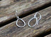 Silver Teardrop Earrings 8