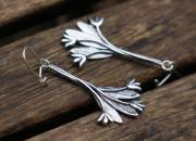 Silver Tulip Earrings 2