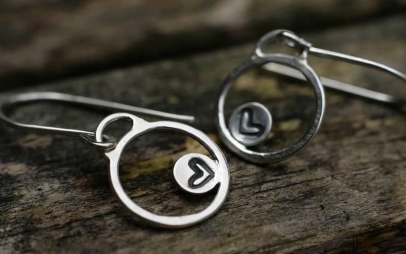 Sterling Silver Heart Earrings 1