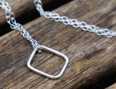 Sterling Silver Square Necklace 1