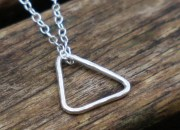 Sterling Silver Triangle Necklace 3