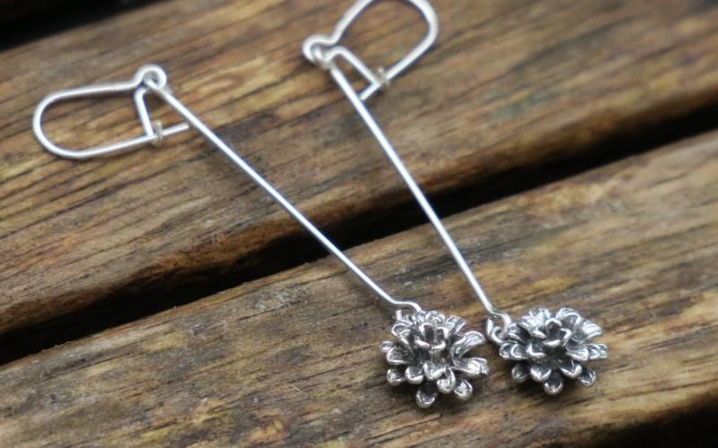 Lopng Flower Earrings 1
