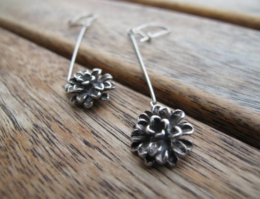 Sterling Silver Flower Earrings 1