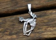 Sterling Silver Moose Pendant 3