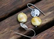 Silver Amber Earrings 5