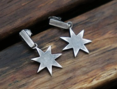 Silver Star Earrings 1