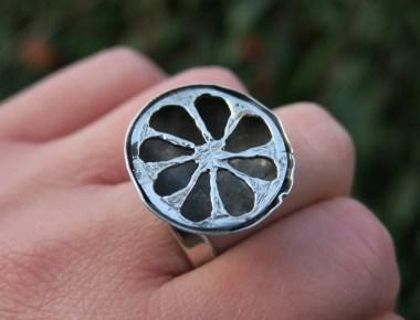 Silver Statement Lemon Ring 1