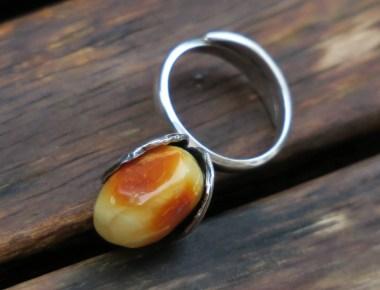 Unique Amber Ring 3