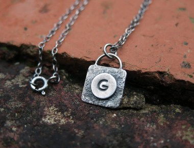 Silver Monogram Necklace 1
