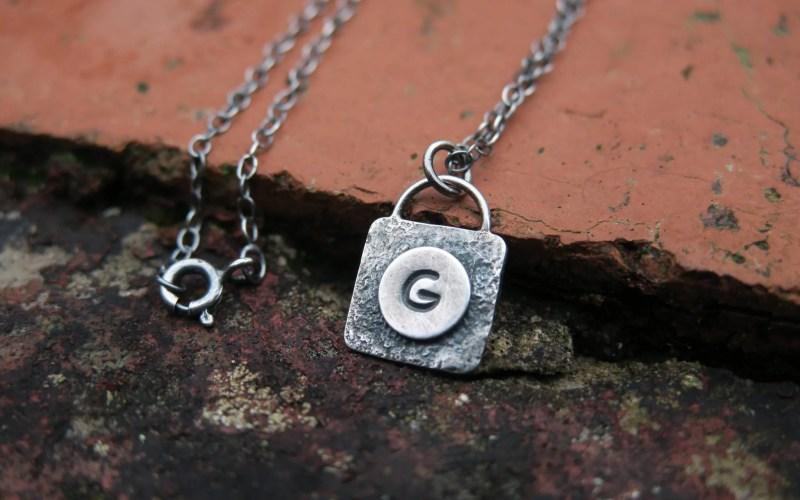Silver Monogram Necklace 1