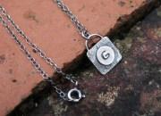 Silver Monogram Necklace 3