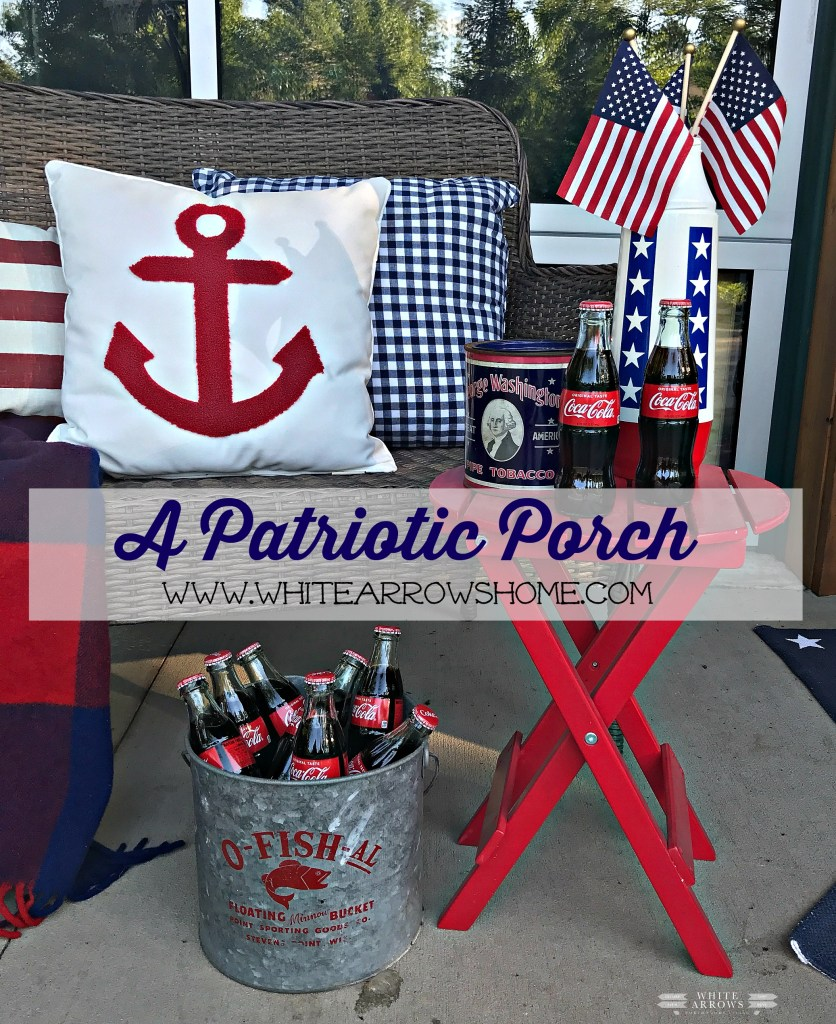 Fourth of July, 4th of July, Porch Decor, Patriotic Decor, Nautical Decor, Vintage Decor
