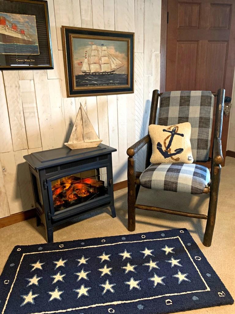 Nautical Decor Chandler 4 Corners Anchor Pillow Barn wood Wall