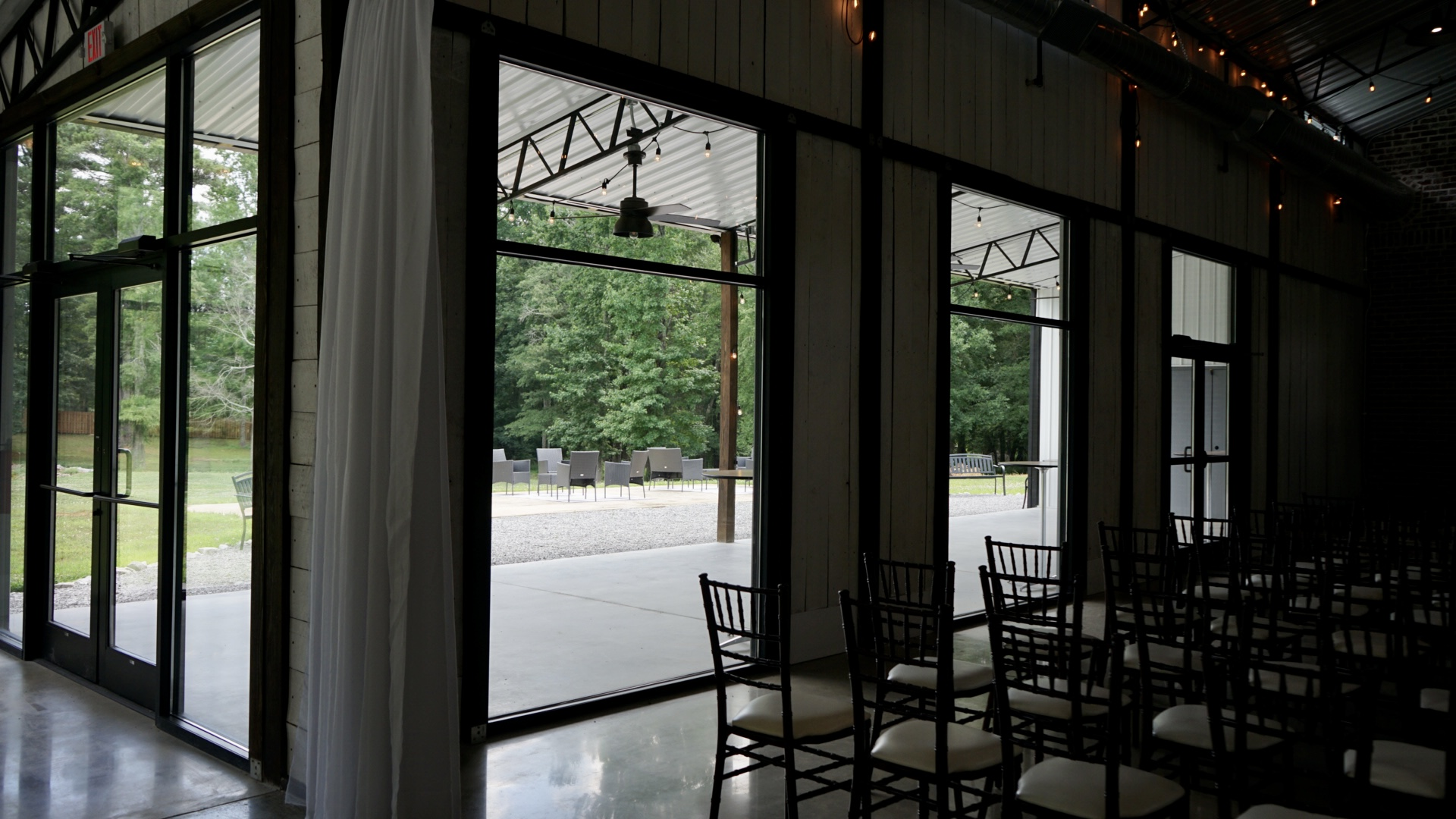 View of patio from ceremony area