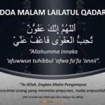 Doa Malam Lailatul-qadar