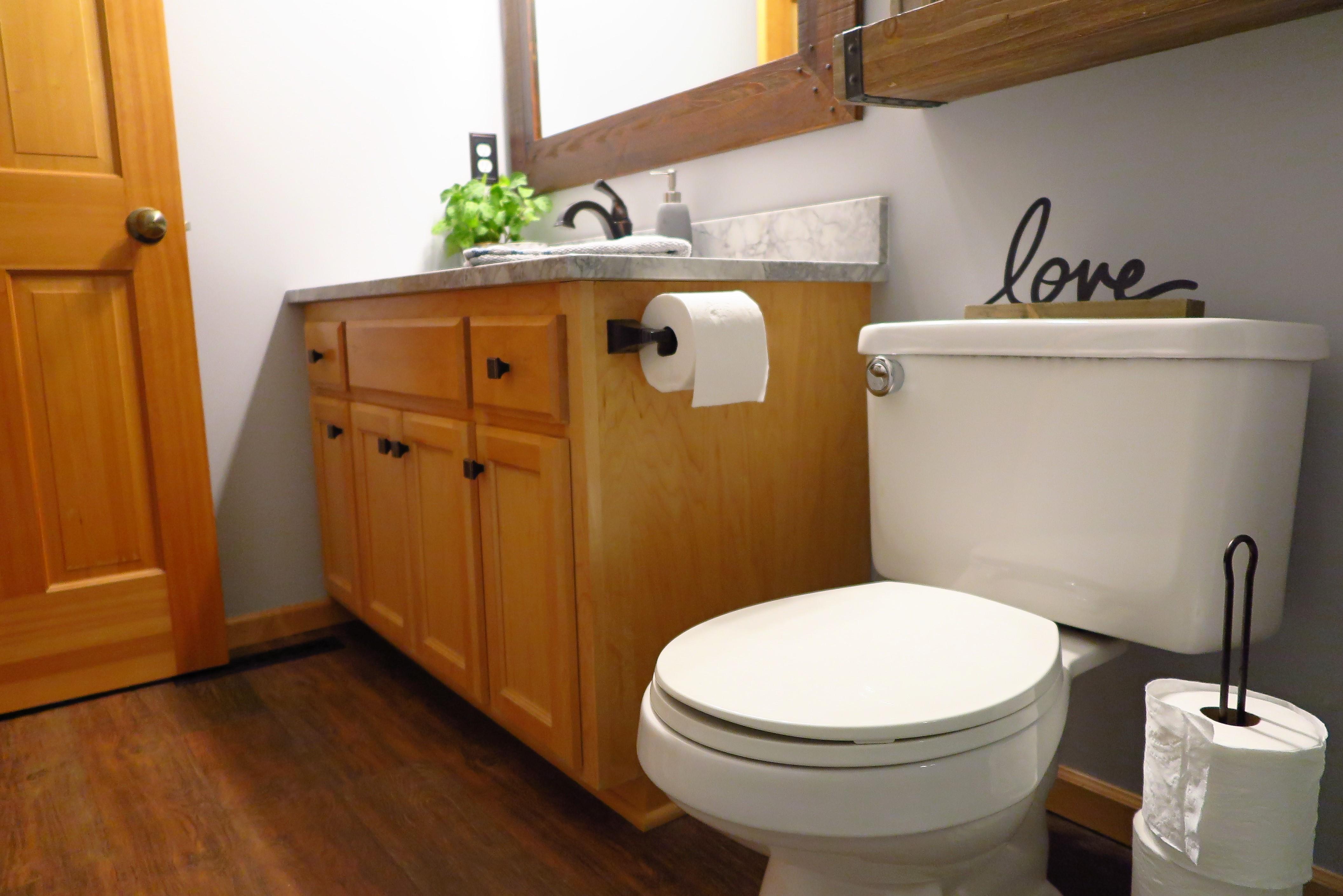 Farmhouse Inspired Bathroom Remodel | Woodbury, MN - White ...