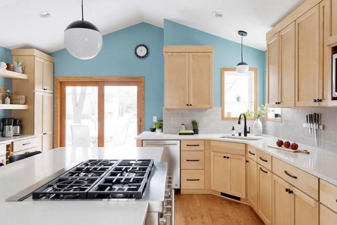 Burnsville MN Kitchen Remodel Large Kitchen Island